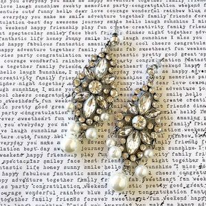 Chandelier Pearl Statement Earrings